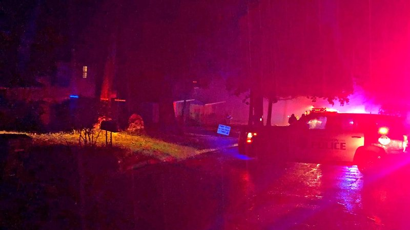 Emergency vehicles at the scene of a fatal fire on Royal Ridge Drive in Denison on October 24, 2019. (Courtesy Mike Zapata)