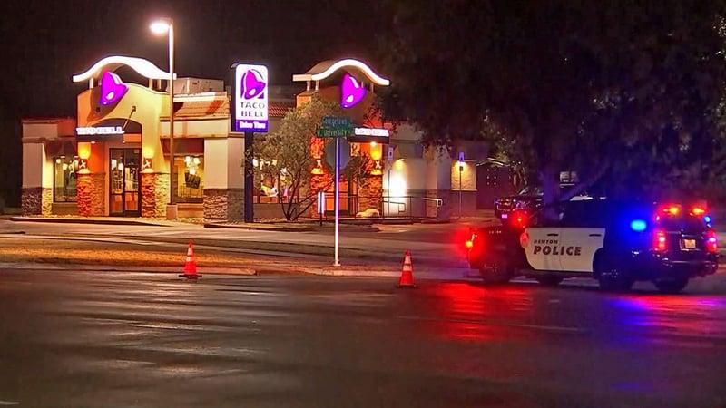A Denton police officer was shot during a traffic stop on October 28, 2019. (KTVT via CNN)