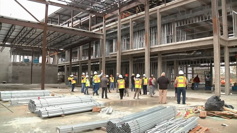 The new Sherman High School campus is taking shape. (KTEN)