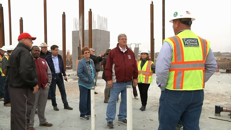 The Sherman ISD Bond Progress Committee toured the site of the new high school on October 28, 2019. (KTEN)