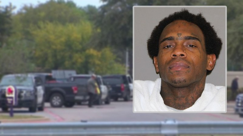 Antwon Pinkston was arrested in connection with the shooting of a Denison police officer. (Denton County Jail/KTVT via CNN)