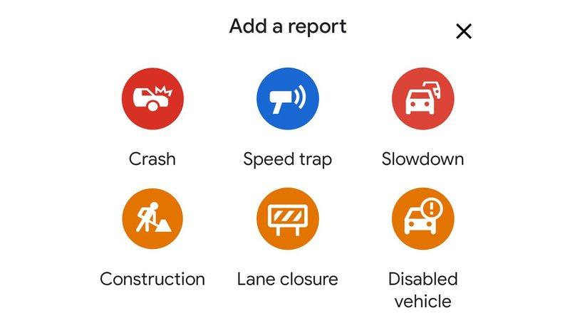 """Users of the Google Maps app can now report a """"speed trap"""" and share other alerts. (KTEN)"""