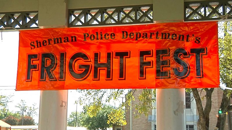 The Sherman Police Department is getting ready for Fright Fest on Halloween night. (KTEN)
