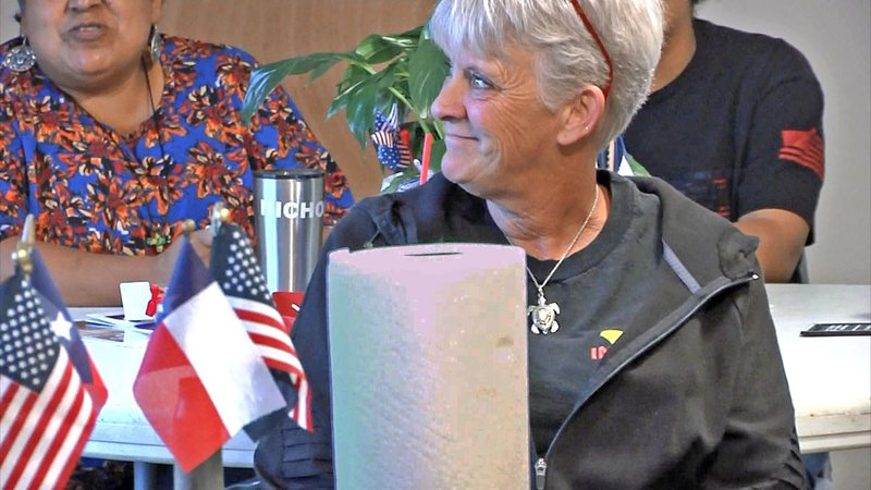 """Everyone has something to contribute,"" said Desert Storm veteran Cindy Robertson. (KTEN)"