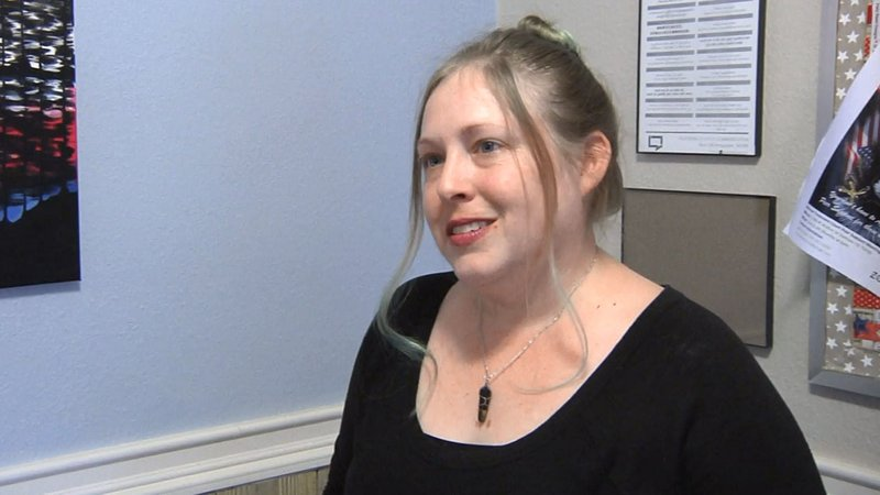 """""""I was so focused on surviving and trying to reestablish a new norm and a new identity for myself,"""" said Navy vet Lucinda Kukuk. (KTEN)"""