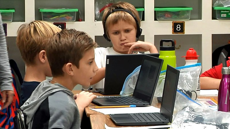 Students at Elmore City-Pernell Elementary are taking advantage of the latest technology. (KTEN)