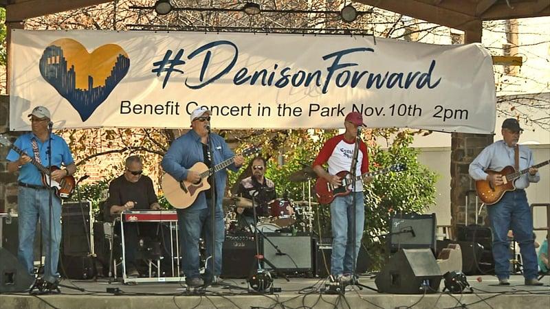 Musicians performed at the #DenisonForward concert on November 10, 2019. (KTEN)