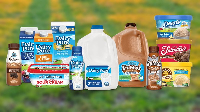 Some of the dairy products produced by Dean Foods. (Dean Foods/KTEN)