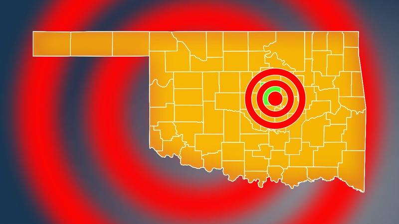 A magnitude 3.8 earthquake struck near Prague, Oklahoma, on December 2, 2019. (KTEN)