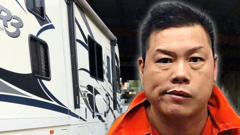 Joe Huang was arrested after deputies allegedly found drugs in his RV. (Courtesy)