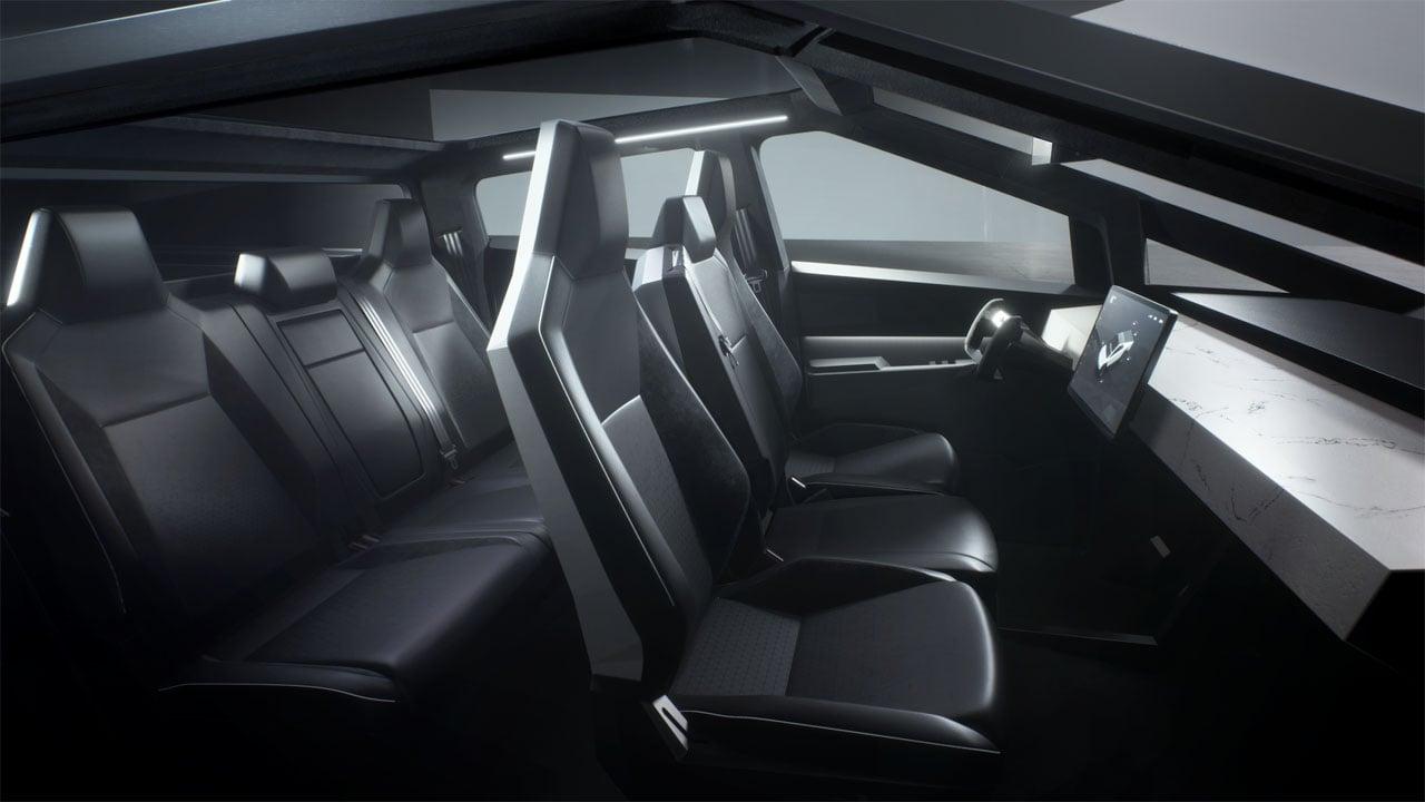 The interior of Tesla's Cybertruck. (Tesla)