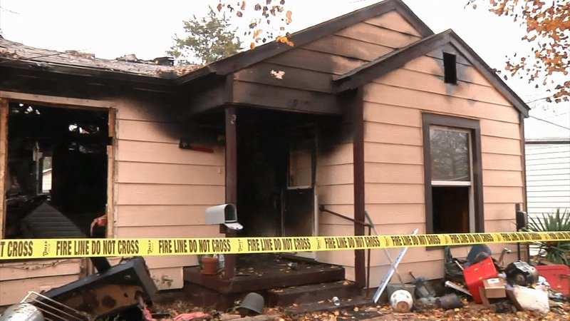 Fire at this home on North Ricketts Street in Sherman claimed one life on November 22, 2019. (KTEN)