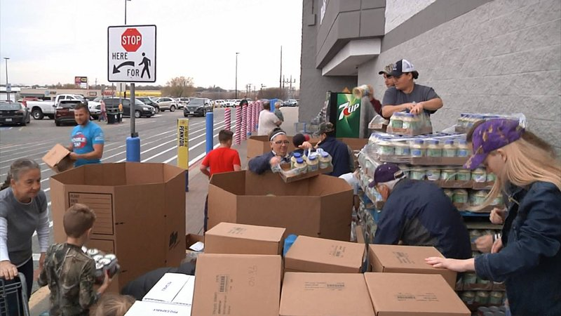 The Salvation Army's largest Texas food drive is underway at the Walmart in Sherman. (KTEN)