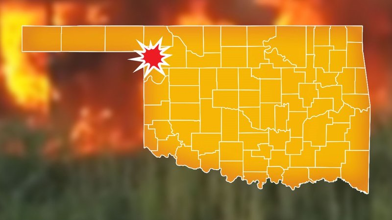 A wildfire forced the evacuation of Fargo, Oklahoma. (KTEN)