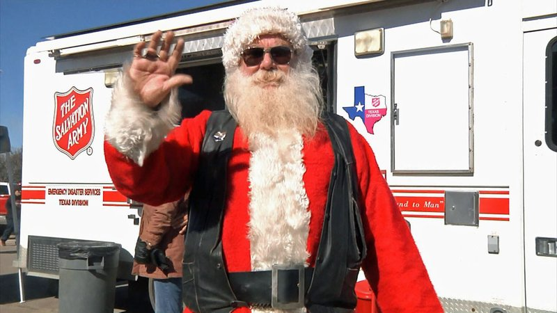 Santa made an appearance at the 25th annual For the Kids Toy Run in Denison. (KTEN)