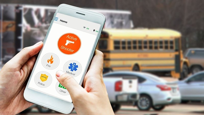 Ada educators can use the Rave Panic Button app to call for help in an emergency. (KTEN)