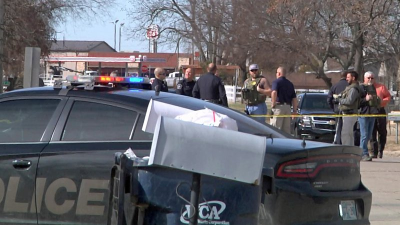 Ada police opened fire on a felony suspect after an officer was shot on December 3, 2019. (KTEN)