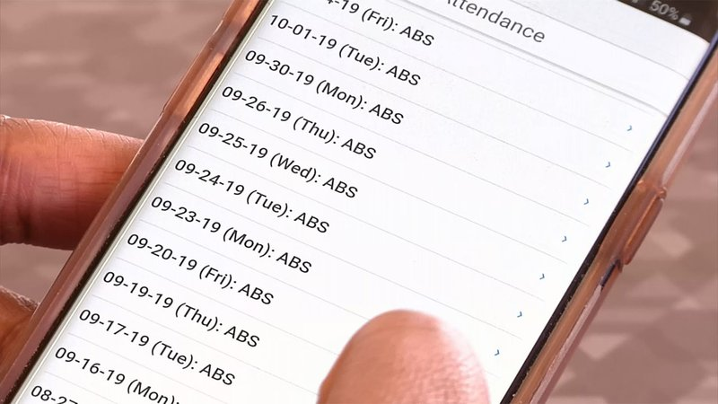 Sherman ISD parents can use a smartphone app to monitor school attendance. (KTEN)