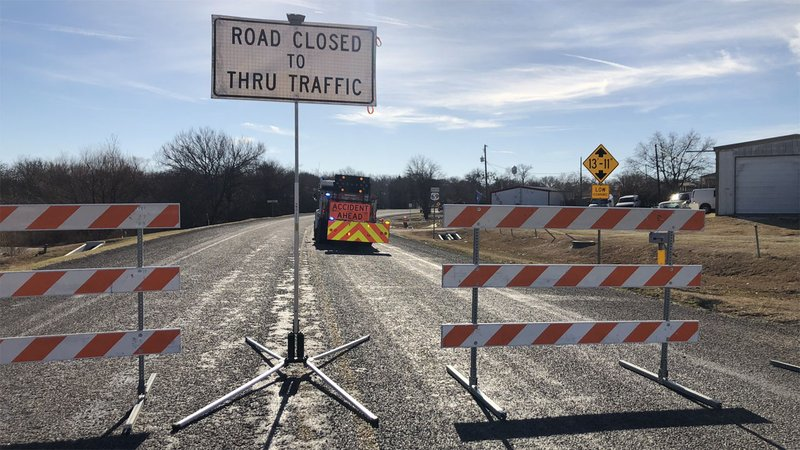 A portion of US 69 in Bells was closed to traffic after an oversized truck damaged a railroad overpass. (KTEN)