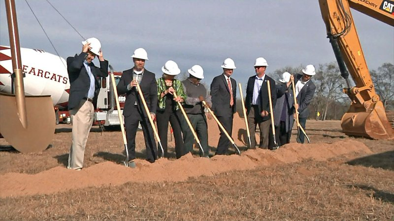 Groundbreaking ceremonies for the US 75 Project in Sherman on December 4, 2019. (KTEN)