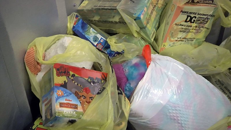 Some of the toys and other gifts collected in the 2019 Project Christmas campaign. (KTEN)