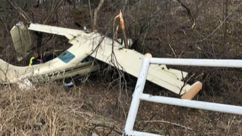 Two people were injured when their small plane crashed in Ada on January 1, 2020. (Courtesy)
