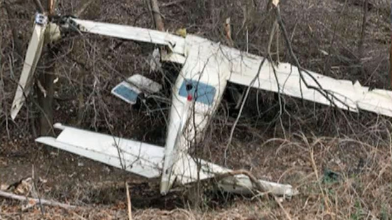 The 1974 Cessna T210L crashed in a wooded area near the Ada Agri-Plex on January 1, 2020. (Courtesy)
