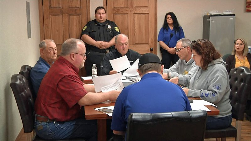 The Marshall County EMS board meeting on January 2, 2020. (KTEN)