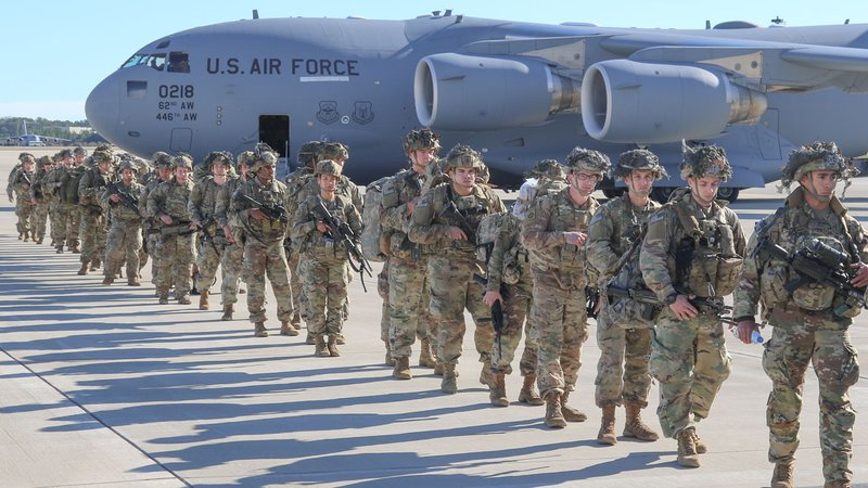 U.S. Army Paratroopers deploy from Pope Army Airfield, North Carolina, Jan. 1, 2020. (Capt. Robyn J. Haake/US Army)