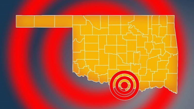 A 2.6 magnitude earthquake rattled Love County on January 6, 2020. (KTEN)
