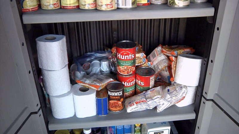 Tom Bean's blessing box is stocked with food and other necessities for those in need. (KTEN)