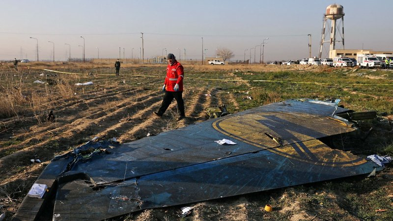 All 176 people on a Ukraine International Airlines flightdied when it crashed near Tehran. (Ebrahim Noroozi/AP)