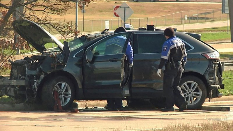 A man was found dead in this vehicle in Sherman on January 11, 2020. (KTEN)