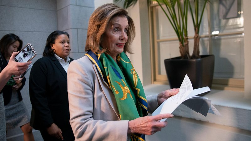 House Speaker Nancy Pelosi named seven House Democrats who will serve as impeachment managers in the Senate trial.  (J. Scott Applewhite/AP)