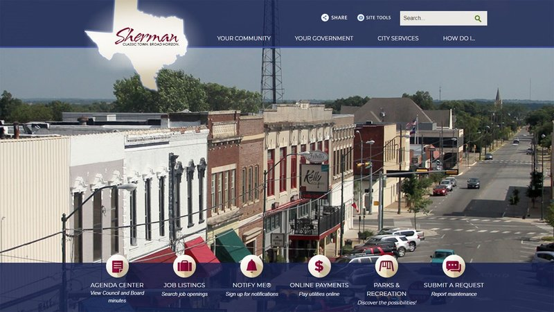 A contest will help give a fresh new look to the City of Sherman's website.
