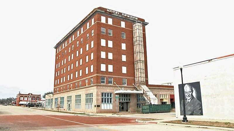 Renovations are underway at the landmark Hotel Denison. (KTEN)
