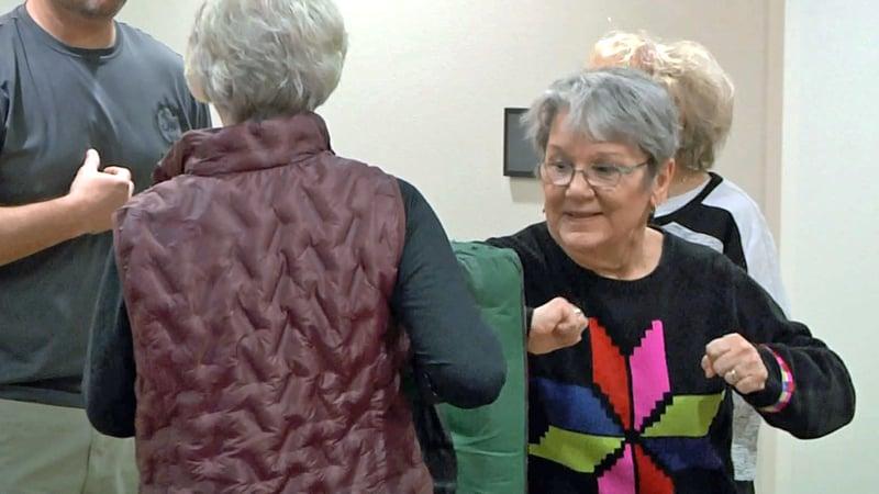 Ada police held a self-defense course for seniors. (KTEN)