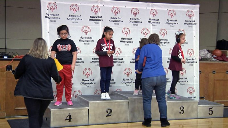Competitors receive awards at the Special Olympics Tournament at Austin College on January 22, 2020. (KTEN)