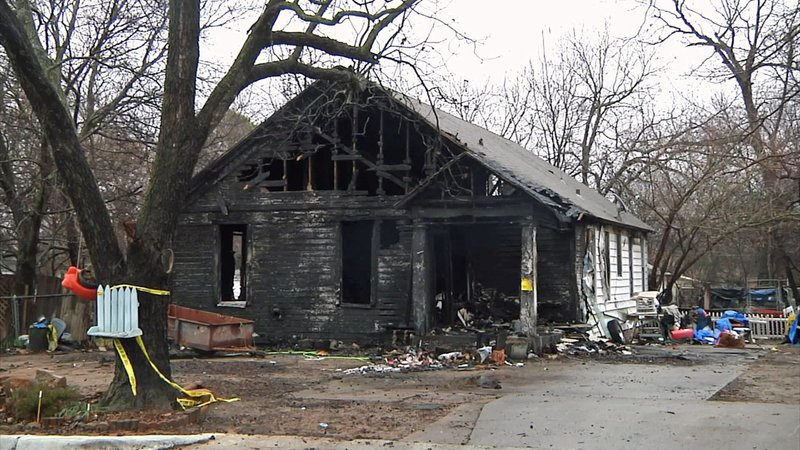 This Ardmore residence was condemned after it burned in a fire on December 26, 2019. (KTEN)