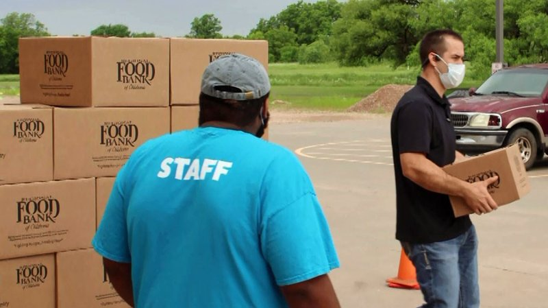 Food boxes are being provided to Oklahoma residents needing nutritional help during the coronavirus pandemic. (Courtesy)