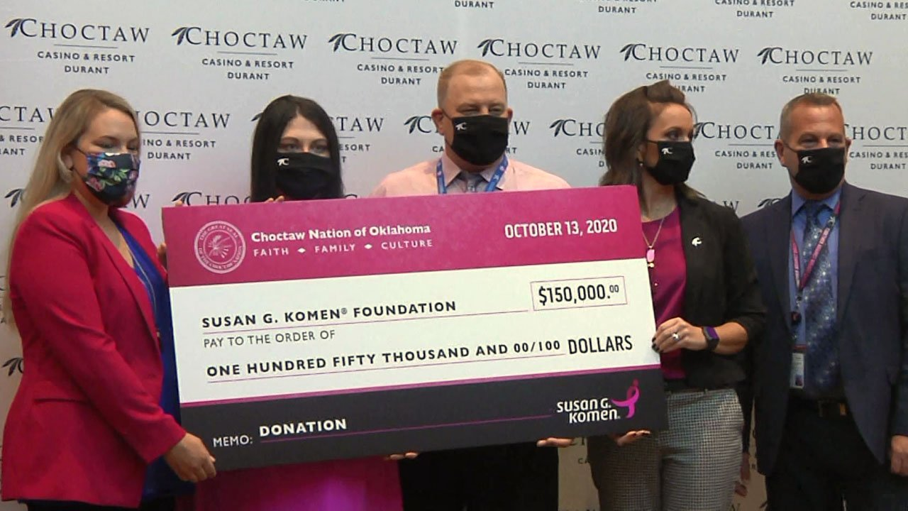 Choctaw Nation donates to breast cancer battle