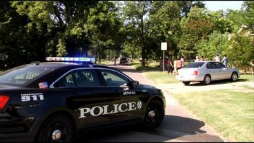 Ardmore police investigate the murder of Ella Loftis on July 28, 2014. (KTEN)